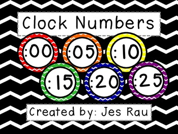 Primary Chevron Clock Numbers