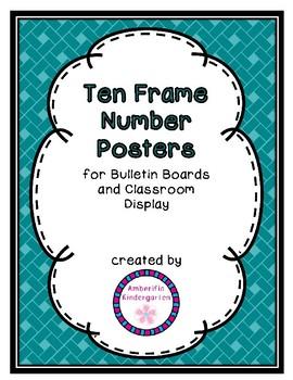 Ten Frame Number Posters Room Decor