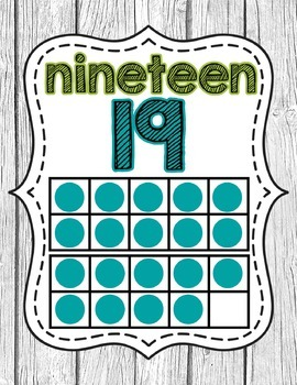 Ten Frame Number Posters- Shabby Chic Rustic Shiplap Wood