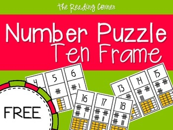 Ten Frame Number Puzzle