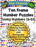 Ten Frame Number Puzzles!  Ordering & Decomposing Numbers 11-20 Using Puzzles!