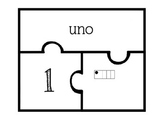 Ten Frame Number Puzzles in Spanish