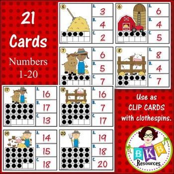 Ten Frame Number Recognition Clip Cards or Task Cards!