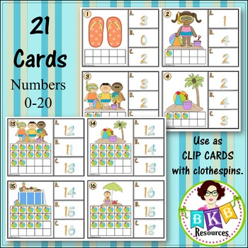 Ten Frame Activities ● Ten Frame Count and Clip Cards ● Summer Math Center