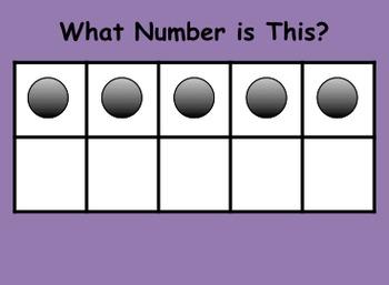 Ten Frame Number Sense Power Point 4