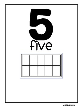 Ten Frame Number Set (Blank ten frames)