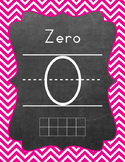 Ten Frame - Number Sets (1-20) - Chevron - Hot Pink