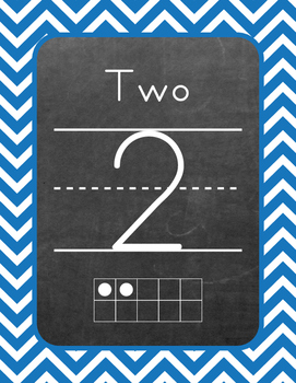 Ten Frame - Number Sets (1-20) - Chevron - Primary Colors