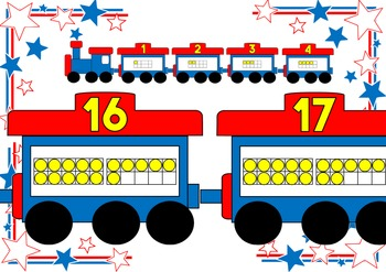 Ten Frame Number Train 1 to 20