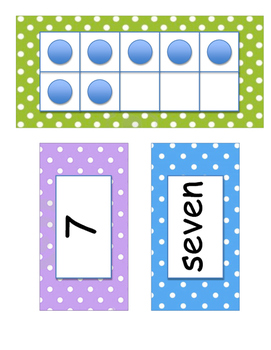 Ten Frame Number Wall