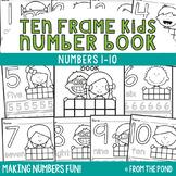 Ten Frame Number Workbook