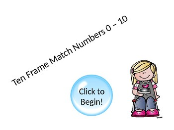 Ten Frame Numbers 0-10 Match Game