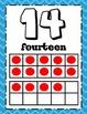 Ten Frame Numbers 0-30 Poster Set w/ Counters Chevron Ten Frames Math Word Wall