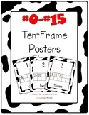 Ten Frame Numbers Farm Theme Number Line Poster Set