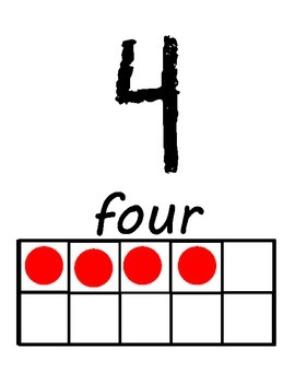 Ten Frame Numbers (Up to 10)
