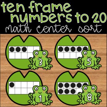 Ten Frame Counting to 20 Kindergarten Math Center Spring Sorting Activity
