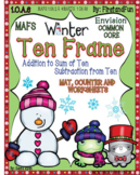 Ten Frame Pack Addition Subtraction Mats Worksheet Posters MAFS Common Core