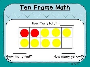 Ten Frame Pairs of 1-10 (Kindergarten K.OA.3)