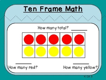 Ten Frame Pairs of 1-10 (Kindergarten K.OA.3)