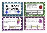 Ten Frame Peg Clip Cards - Addition!