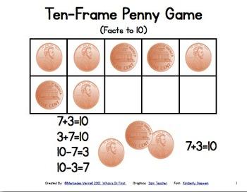 Ten-Frame Penny Game