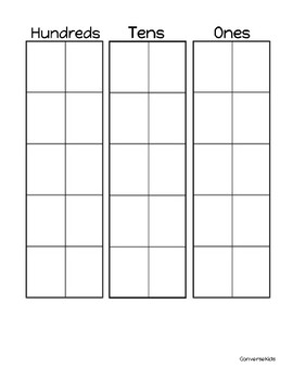 Ten Frame Place Value Chart