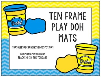 Ten Frame Play Doh Mats