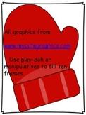 Ten Frame Play-Doh mat - Winter theme