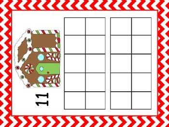 Ten Frame Play-doh mat - Gingerbread house