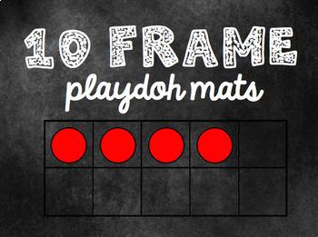 Ten Frame PlayDoh Mats