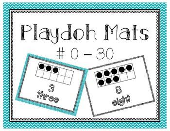 Ten Frames Playdoh Mats 0-30 (Color & B&W)