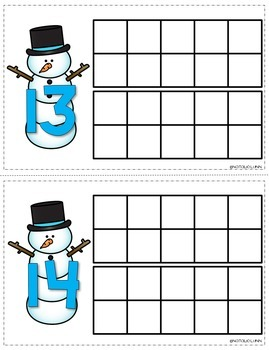 Seasonal Playdough Ten Frames
