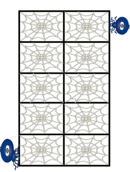 Ten-Frame Playing Cards for Halloween