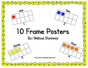 Ten Frame Poster Pack
