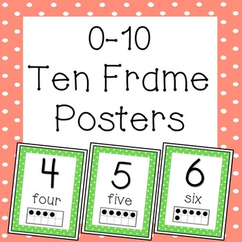 Ten Frame Posters 0-10