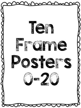 Ten Frame Posters 0-20