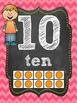 Ten Frame Posters 0-20 Chalkboard & Neon Full & Half Size