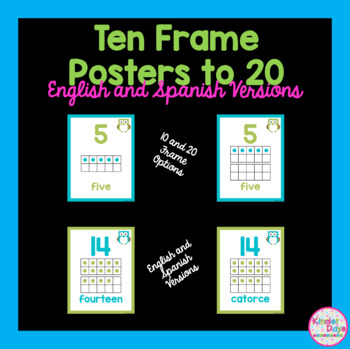 Ten Frame Posters (0-20) - Owls