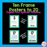 Ten Frame Posters (0-20) - Stripe Border