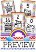 Ten Frame 0 to 20 Rainbow Chevron Posters