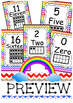 Ten Frame 0 to 20 Rainbow Chevron Posters