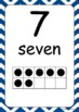 Ten Frame Posters 0 to 20 (in 10 Stripey Colours)