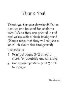 Ten Frame Posters 1-10 for students with CVI