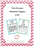 Ten Frame Posters 1-20