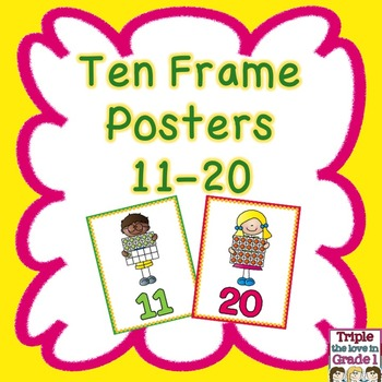 Ten Frame Posters 11-20