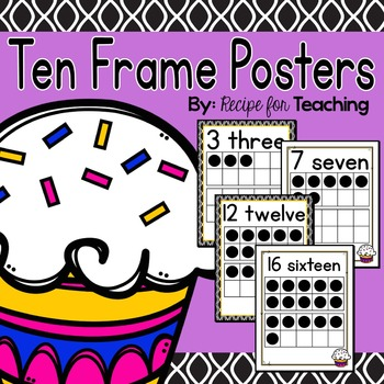 Ten Frame Posters