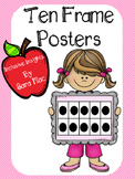 Ten Frame Posters 0-10, Anchor Charts, and Visuals