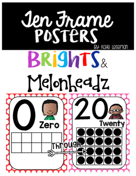Ten Frame Posters - Brights and Melonheadz