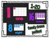 Ten Frame Posters (Chalkboard)