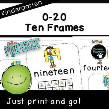 Ten Frame Posters  (***FREEBIE***)